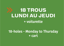 Multi-Round Booklet 18-hole - Monday to Thursday + cart