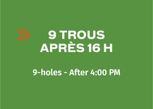 Multi-Round Booklet 9-hole - After 4PM