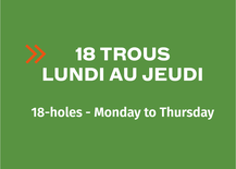 Multi-Round Booklet 18-hole - Monday to Thursday